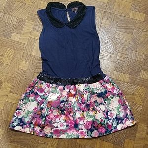 Imoga dress navy floral size 5 pasty euc